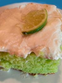 Key Lime Cake  1 (18 1/2 ounce) boxes lemon cake mix 1 (1/3 ounce) package lime Jell-O gelatin 1 1/2 cups vegetable oil or 1 1/2 cups canola oil 5 eggs1/2 cup orange juice  Glaze: 4 tablespoons confectioners' sugar 1/2 cup lime juice  Icing: 1 (16 ounce) boxes confectioners' sugar 1/2 cup butter, softened 8 ounces cream cheese 1 tablespoon vanilla  Click Here for the complete recipe: http://www.q99fm.com/BreakfastClub/FDT2015.aspx