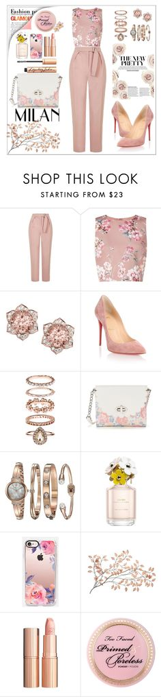 """""""Untitled #45"""" by aishaamer ❤ liked on Polyvore featuring Topshop, Miss Selfridge, Christian Louboutin, Accessorize, Candie's, Anne Klein, Marc Jacobs, Casetify and Charlotte Tilbury"""