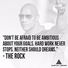 Loved this one from @TheRock.