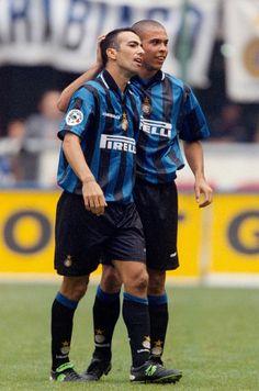 Youri Raffi Djorkaeff with Ronaldo Luís Nazário de Lima