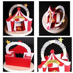Mosaïque carte double sliding box thème cirque Page Facebook Paper&Carole