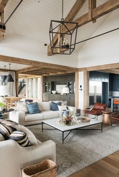 Wohnzimmer Dekor SM Ranch House: The Living Room - Design Inspiration - Living Room Interior, Home Living Room, Living Room Designs, Living Room Furniture, Living Room Decor, Living Spaces, Small Living, Rustic Modern Living Room, Country Living