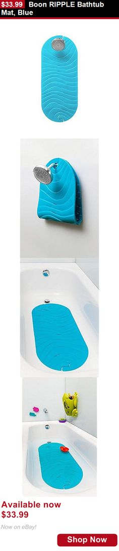 Baby Bathing Accessories: Boon Ripple Bathtub Mat, Blue BUY IT NOW ONLY: $33.99