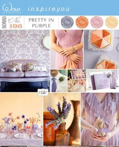 Peachy and lavender  wedding