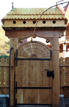Fence Gate, Fences, Portal, Woodworking Jigs, Scroll Saw, Wood Carving, Hungary, Wood Art, Gates