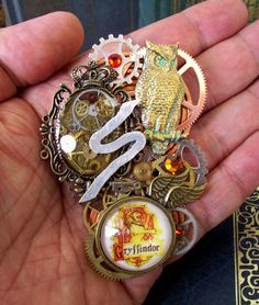 Harry Potter Tribute Brooch A86  Steampunk by DesignsByFriston, $44.00