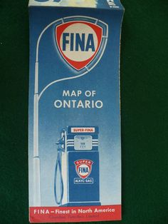 FINA gas station map