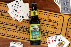Cribbage with Major Tom's American Wheat from The Fort Collins Brewery. #summerbeer