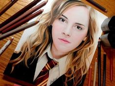 ▶ Drawing Hermione Granger - YouTube... Just incredible! I thought it was a photo!! ///// This is amazing!