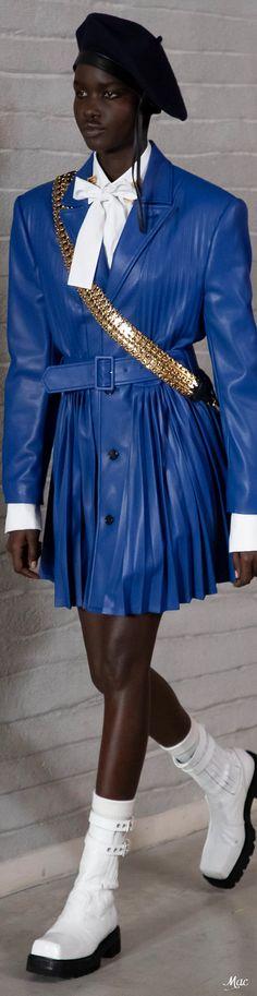 Fall 2021 RTW Philosophy di Lorenzo Serafini Italian Fashion, Fashion Labels, Philosophy, Beautiful Dresses, Captain Hat, Fall Winter, Couture, Hats, Blue