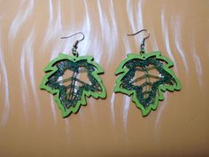 Ohrringe - KCA 35 - handgeklöppelte Ohrringe - Blätterreigen - ein Designerstück von Kreative-Kloeppelideen bei DaWanda
