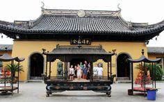 Zhujiajiao water town near Shanghai  temple group pic