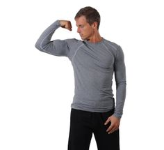 Mens tasc Performance Hybrid Fitted LS Crew Long Sleeve No Zip Technical Tops at Road Runner Sports