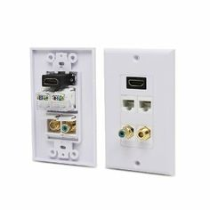 Ethernet And Coax Wall Plate Pleasing Hdmi Mono Rca Audio Coaxial Dual Ethernet Combo Wall Plate Design Decoration