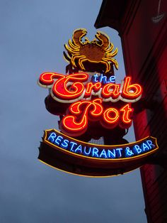 The Crab Pot - Seattle, WA - can't go wrong with a bucket of food on butcher block paper!