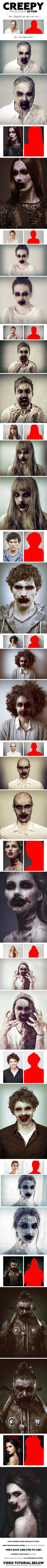 #Creepy #Photoshop #Action - Photo Effects Actions