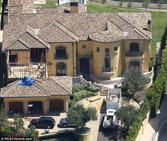 Nearly there! Kim Kardashian and Kanye West have been living at her mother Kris Jenner's house as construction on their home, seen here, continues