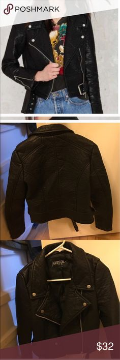 Nasty gal vegan jacket Pre owned good overall condition, price is absolutely firm Nasty Gal Jackets & Coats