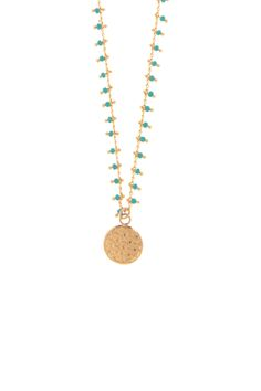 Collier turquoise pampile Artémis