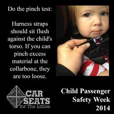 Do The Pinch Test Every Time You Buckle Csftlorg Car Seats