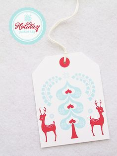 incredibly cute FREE printable Christmas tag!