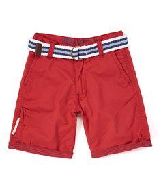 Nantucket Red Belted Cargo Shorts - Toddler & Boys