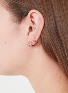 Basic Sweetheart Hoops in Gold, Rose Gold & Silver Heart Earrings, Silver Earrings, Hoop Earrings, Fashion Jewellery, Needle And Thread, Designer Earrings, Fashion Brand, Heart Shapes, Olive Green