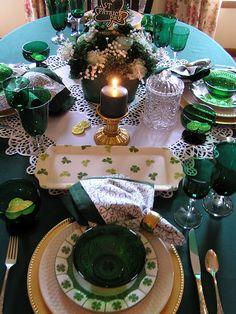 St. Patricks Day tablescape