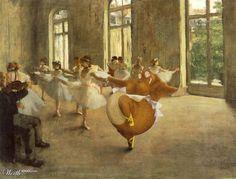 Degas ~ Prove di balletto con ippopotama in tutù