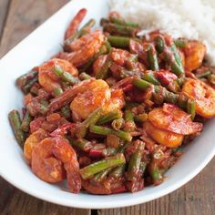 Recipe: Surinamese shrimp with garter Savory Sweets - Air Fryer Recipes Fish Recipes, Lunch Recipes, Asian Recipes, Cooking Recipes, Healthy Recipes, Oven Dishes, Fish Dishes, Suriname Food, Paleo