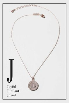 Circle 'J' Initial Ditsy Necklace