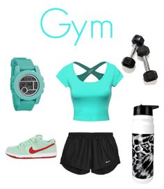 """""""Go work out at the gym"""" by jana777 ❤ liked on Polyvore featuring interior, interiors, interior design, home, home decor, interior decorating, NIKE and Nixon"""