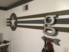 Welcome back for a quick, fun and cheap bedroom makeover! My 12 year old son is very interested in everything military which is why I decided to direct his room makeover in that direction. Boys Army Bedroom, Military Bedroom, Boys Bedroom Decor, Bedroom Themes, Boy Bedrooms, Bedroom Ideas, Army Decor, Army Room Decor, Cheap Bedroom Makeover
