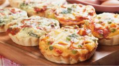 I made these mini quiches with my kids today and to my amazement they ate them!
