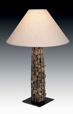 pebbles column table lamp - festaco.com