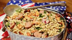 Crawfish and Andouille Macaroni Salad With Whole-Grain Mustard Vinaigrette from AZ's Bryan's BBQ