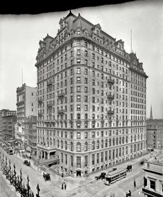"New York circa 1904. ""Hotel Manhattan, Madison Avenue and 42nd Street."" 8x10 inch dry plate glass negative, Detroit Publishing Company."