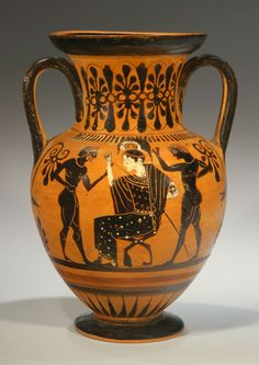 Attic black-figure amphora in the manner of the Three Line painter