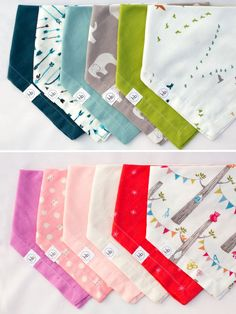 Ollie Bandana Bib Two-Pack: Choose any two colors! Bandana Bib, Baby Boy Fashion, Infant Activities, Baby Bibs, Baby Gear, Burp Cloths, Projects For Kids, Sewing Hacks, Cute Kids