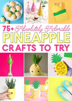 Adorable Pineapple Crafts You Need to Make the cutest pineapple crafts! Over 75 pineapple craft ideas – pineapple crafts to wear, pineapple crafts for your home, pineapple crafts for kids and Easy Diy Crafts, Cute Crafts, Creative Crafts, Crafts To Sell, Selling Crafts, Creative Ideas, Preschool Crafts, Crafts For Kids, Lamb Craft