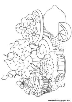 Print cupcake13 coloring pages