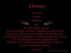 dark poems about demons - Google Search