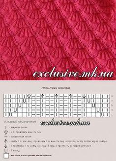 New knitting patterns free bolero charts Ideas Crochet Cowl Free Pattern, Lace Knitting Patterns, Knitting Stiches, Knitting Charts, Crochet Stitches, Stitch Patterns, Knit Crochet, Baby Patterns, Knitting Accessories