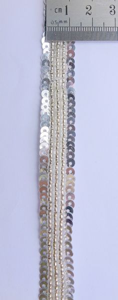 Silver Handmade Trim glass beads and sequence by ColourCocoon, $3.60