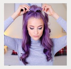 Purple Hair ~ Rainbow Hair Trend  ~ we ❤ this! moncheriprom.com