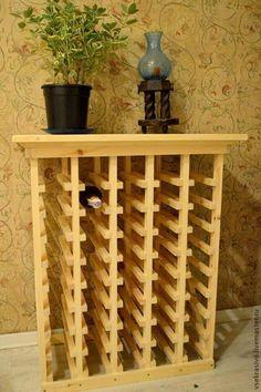 Мебель ручной работы. Ярмарка Мастеров - ручная работа. Купить Винный стеллаж/Хранение вина. Handmade. Коричневый, мебель для дачи, деревянный