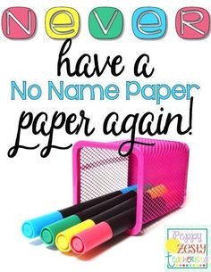 Genius tip to help remind students to write their name on their paper! + FREEBIE!