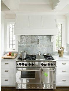 Ann Sacks glazed terra cotta tile backsplash