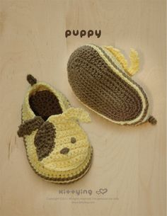 Puppy Baby Booties Crochet PATTERN