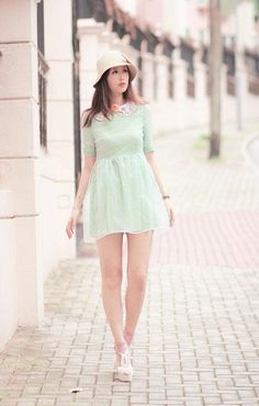 Dolly Mint Tulle Dress on http://lolobu.com/o/3461 ... repinned by Jourdan Dunn, follow more content at http://pinterest.com/shop4fashion/hottest-of-the-honey-pot/
